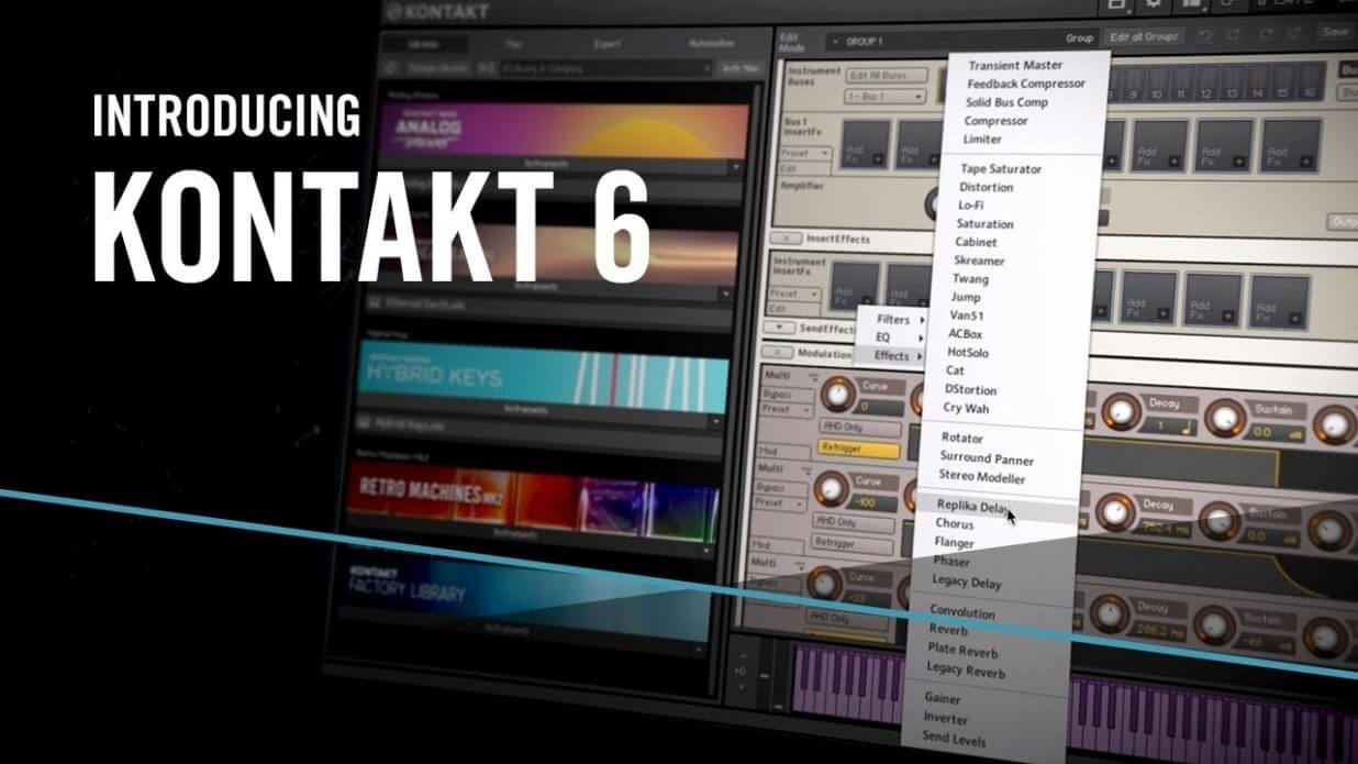 Native Instruments Kontakt 6 With Factory Library (MAC)